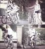 29/05/12 : Miley faisant du vélo avec son frère Braison dans les rues de Toluca Lake.