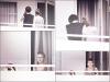 15/06/12 : Miley et Cheyne encore aperçus sur le balcon de leur hôtel à Miami.