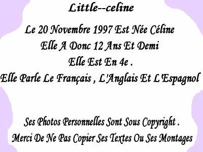 little--celine : Presentation
