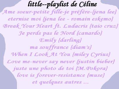 little--celine   Playlist