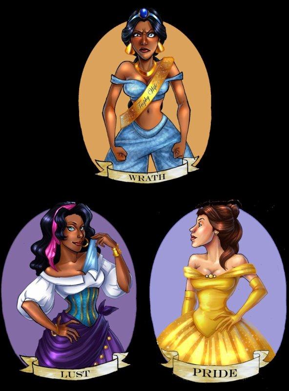 Princesses -  7 péchés capitaux