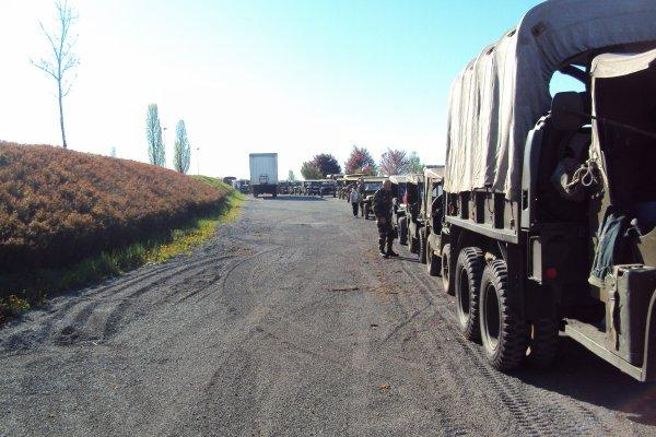 le convoi de 40 véhicule