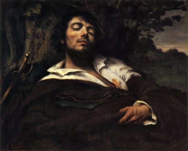 L'homme blessé, Gustave Courbet.