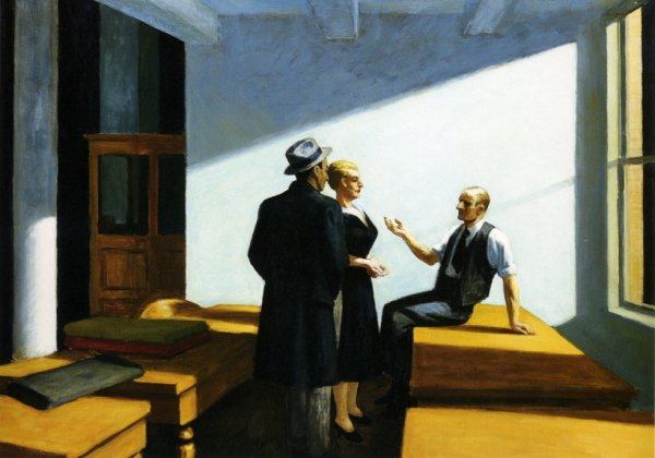 Conference at night - Edward Hopper.