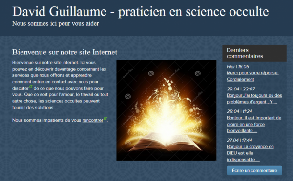David Guillaume - praticien en science occulte