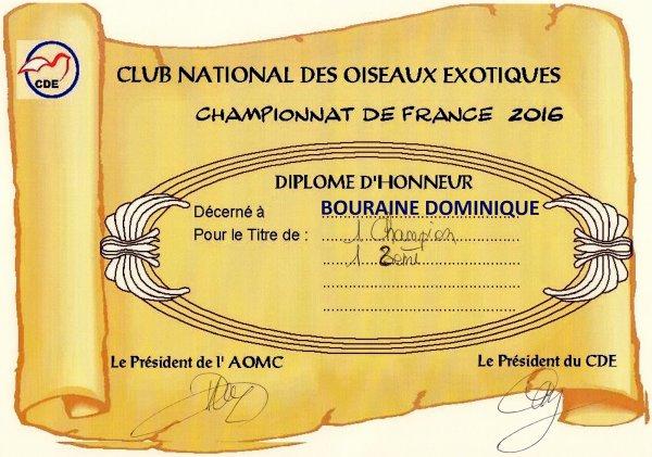 Championnat de France CDE 2016