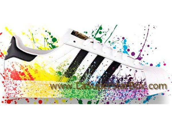 Adidas Originals Chaussures HommeFemme Superstar LGBT Pride