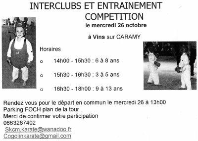 Interclubs et entrainement compétition