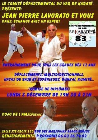 Stage departemental du var avec Jean Pierre Lavorato le 03 Decembre