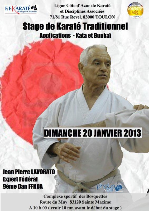 Stage avec Jean Pierre Lavorato