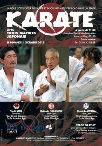 Stage avec les experts japonais le 1er décembre
