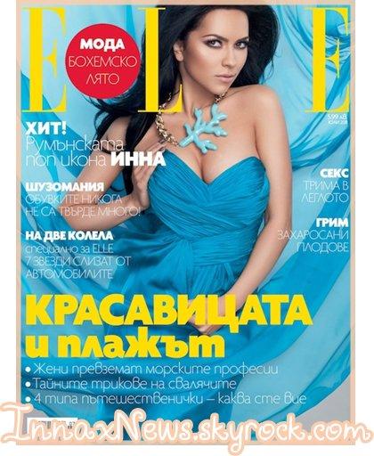 """● Couverture du magazine """" Elle"""" + une photo Facebook"""
