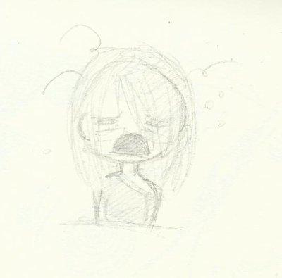 Moi après avoir dessiner longtemps xD