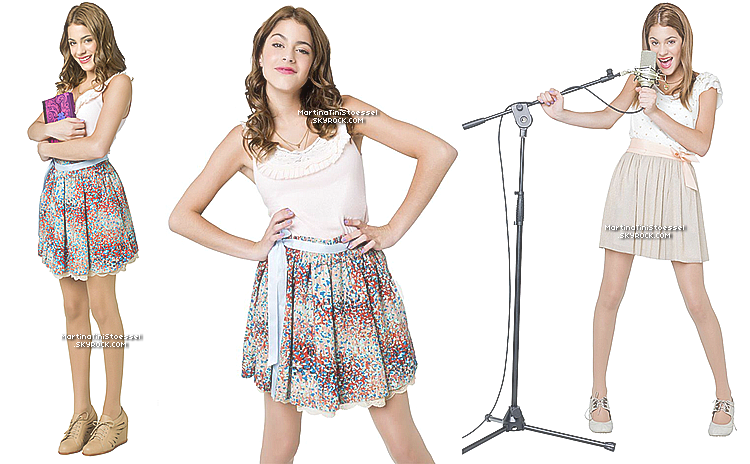 Découvrez ou redécouvrez le photoshoot promotionnel de Martina et le reste du cast pour la série « Violetta ».