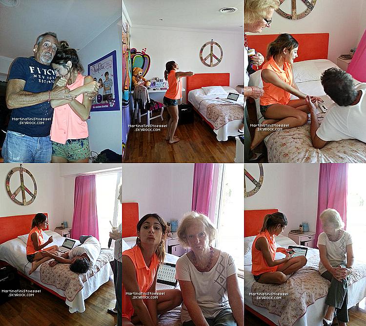 Voici quelques photos de Tini qui était chez elle avec sa famille le 20 janvier 2013 d'après mes sources.