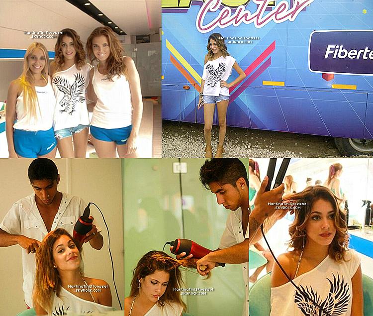 Lors de son 'escapade' à Pinamar, Martina a fait un photoshoot promotionnel pour « Cablevision Fibertel ».