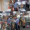 Plusieurs photos de Tini dans le magasin de Ricky Sarkany le 6 février 2013.