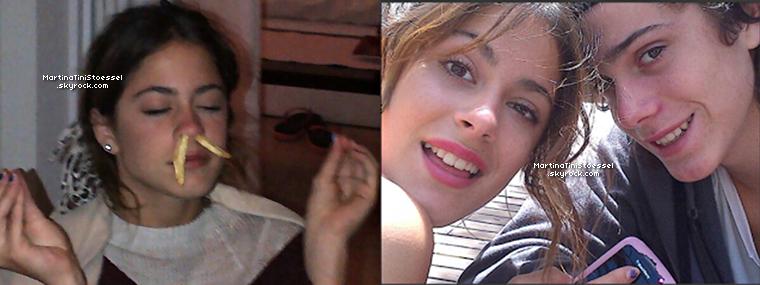 Tini, sa mère et Alberto Pironti travaillent sur la création du site web officiel de Martina.
