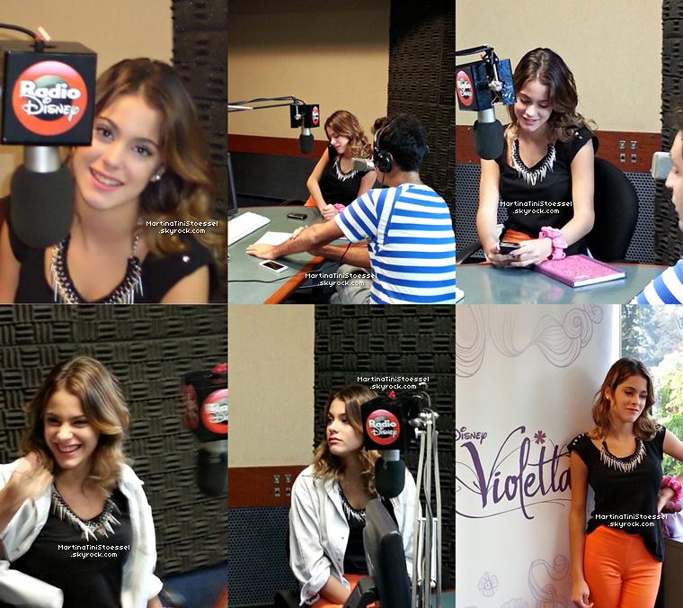 Martina Stoessel était en direct chez « Radio Disney » le 28 février 2013.