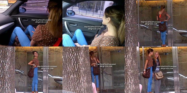 Martina et son papa sont allés chercher Mercedes pour la twitcam le 3 mars 2013.