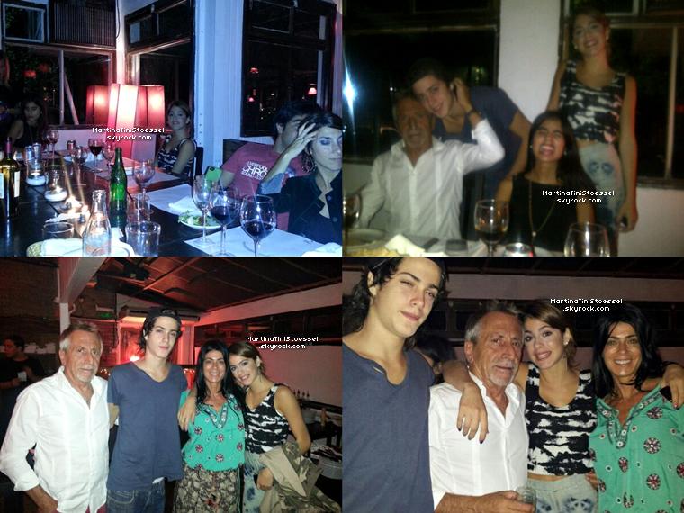 Martina et sa famille étaient au restaurant pour l'anniversaire d'Alberto Pironti le 9 mars 2013.