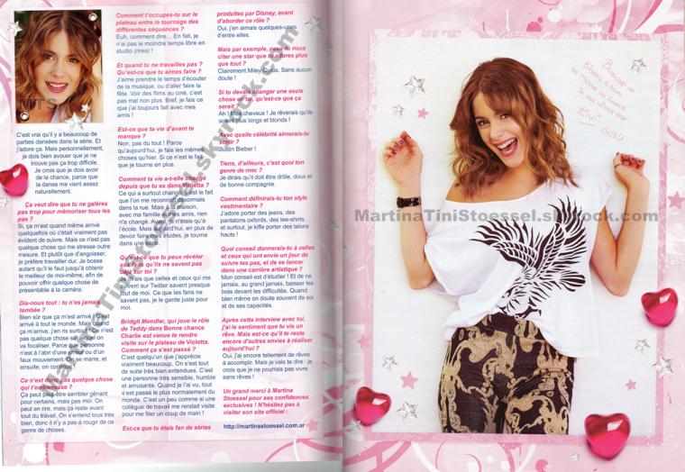 En exclu, voici l'interview et des photos de Martina pour le magazine français « Trinity Stars ».