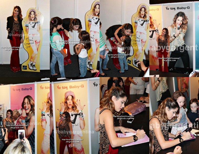 Tini à la présentation des montres « Baby-G » et également pour un Meet&Greet avec des fans.