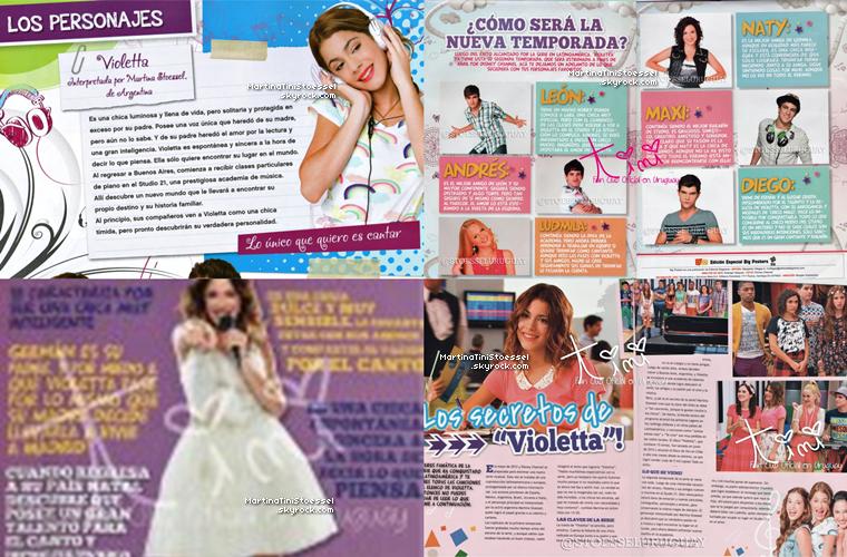 Beaucoup de nouveaux produits dérivés de « Violetta ».
