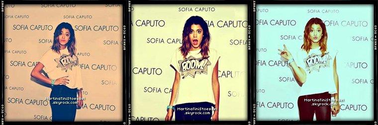 Martina Stoessel sur le tapis rouge de la marque de vêtements « Sofia Caputo ».