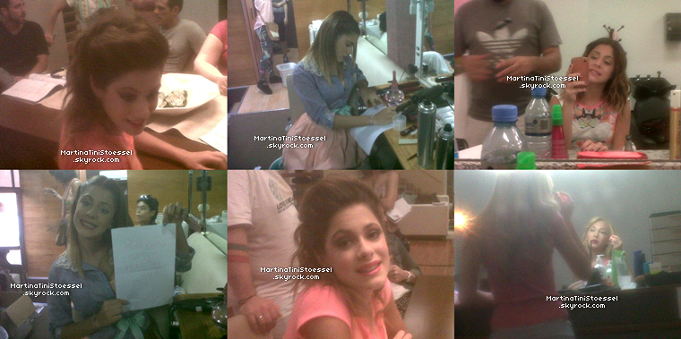 Photos des coulisses de « Violetta ».
