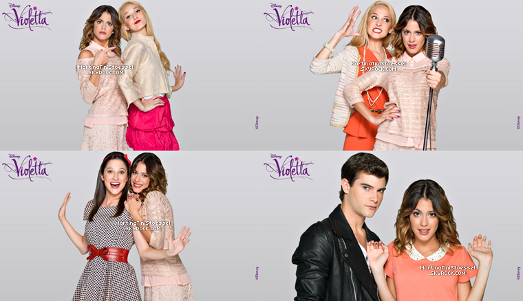 Nouvelles photos du photoshoot promotionnel pour « Violetta » saison 2 + une new photo promo de la saison 1.
