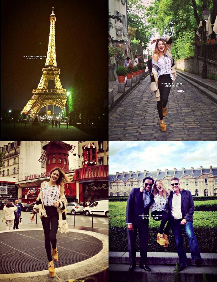 Voici des photos de Martina dans notre capitale, Paris. ♥ Sa tenue est superbe !