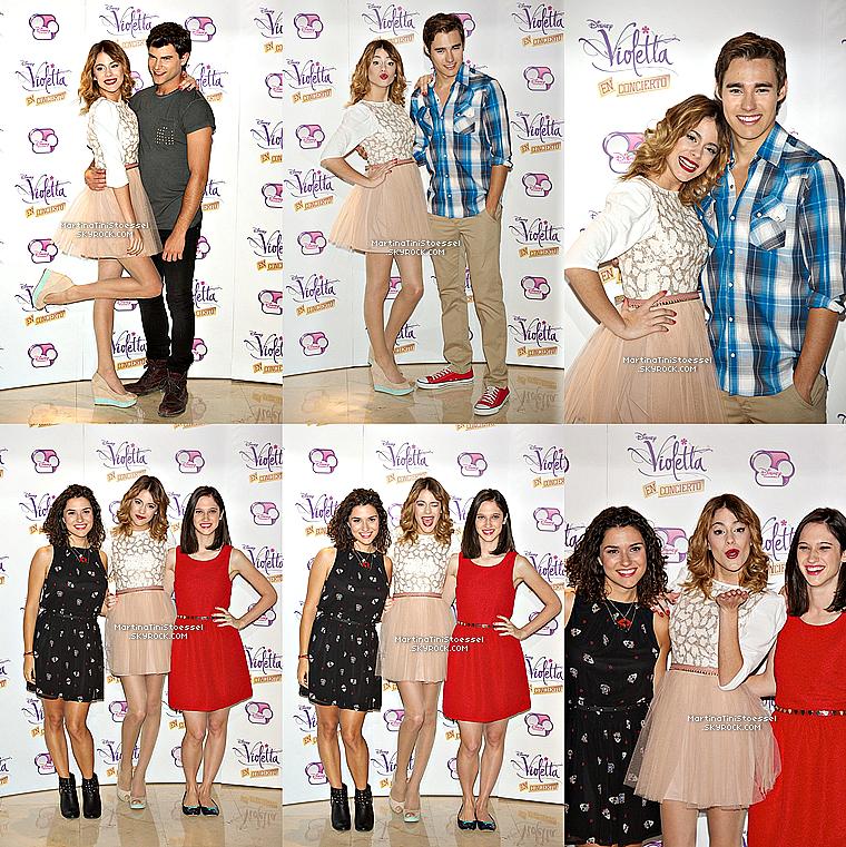 Le 24 juin 2013, Martina était avec une partie du cast de « Violetta » à Madrid pour un photocall.