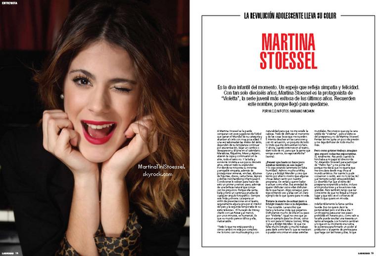 Martina dans le magazine Las Rosas