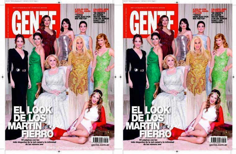 Martina en couverture du magazine Gente.