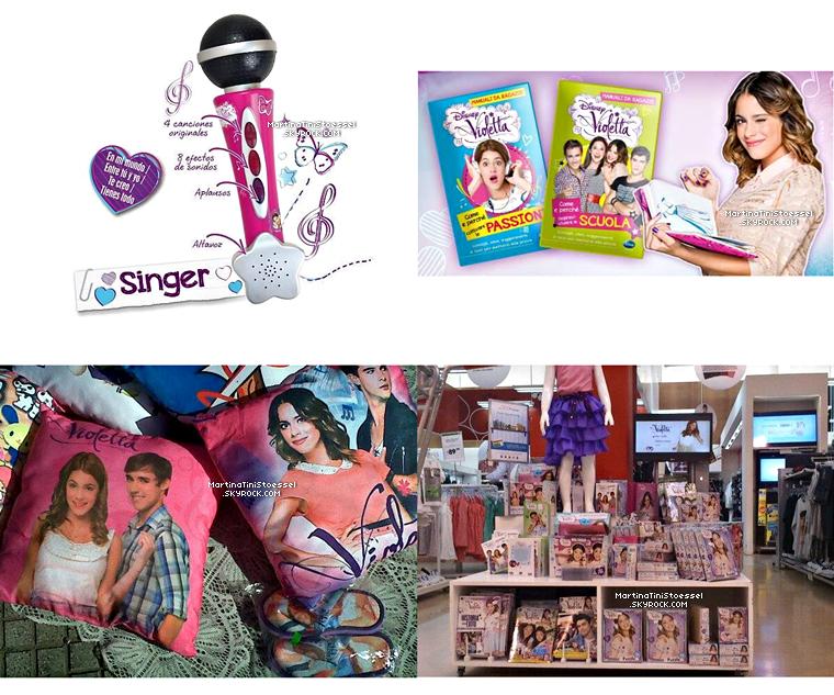 Voici de nouveaux produits dérivés de « Violetta ».
