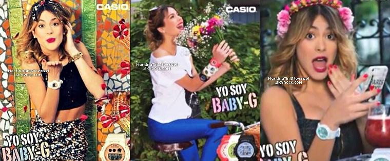 Nouvelles photos du photoshoot de Tini pour les montres « Casio Baby-G » et une vidéo.
