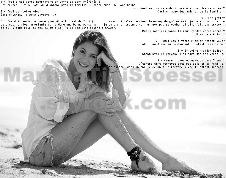 Voici une petite interview de Tini que j'ai traduite ! :)