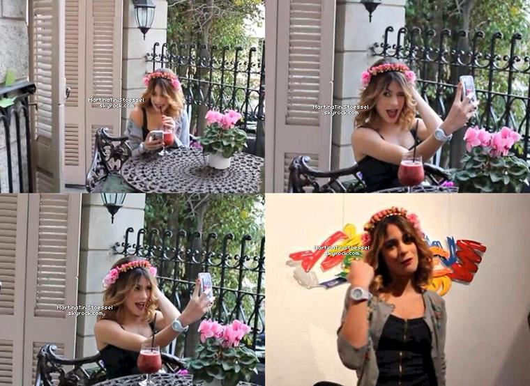 Photo du clip de la chanson « Nuestro Camino » avec Martina (Violetta) & Jorge Blanco (Leon) !