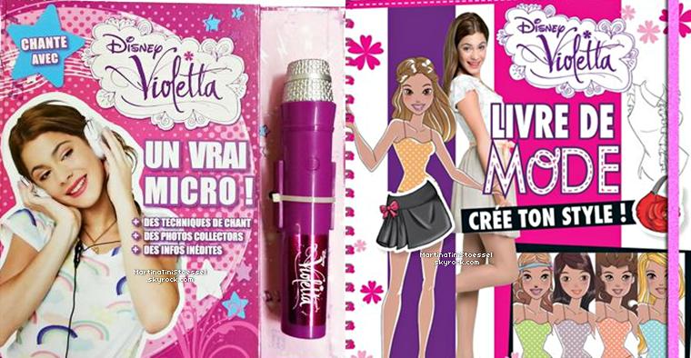 Voici de nouveaux produits dérivés de « Violetta » qui sortirons le 6 novembre 2013 en France !