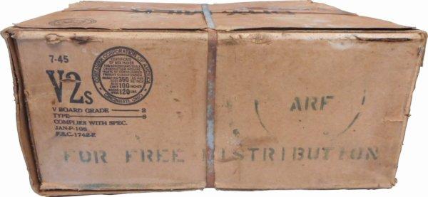 Carton de lait daté de juillet 45 / période Plan Marshall