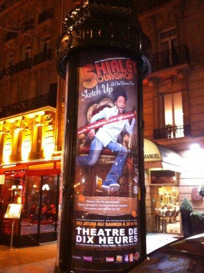 Shirley Souagnon en ce moment dans Paris sur les colonnes moriss lumineuses !!