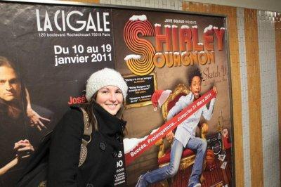 Shirley Souagnon dans les couloirs du métro , ça donne ça...