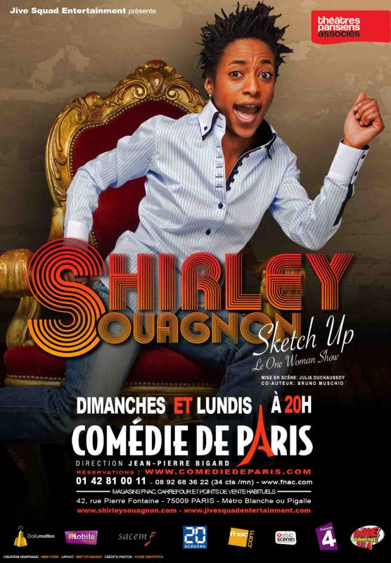 Retrouvez Shirley Souagnon en PROLONGATIONS @LA COMEDIE DE PARIS !