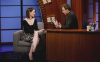 6 août 2014 : Sarah Paulson sur le plateau du talk-show Late Night with Seth Meyers.