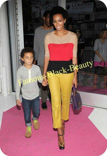 Steal: Solange Knowles a INC International Haut Colorblock Concepts par Claire