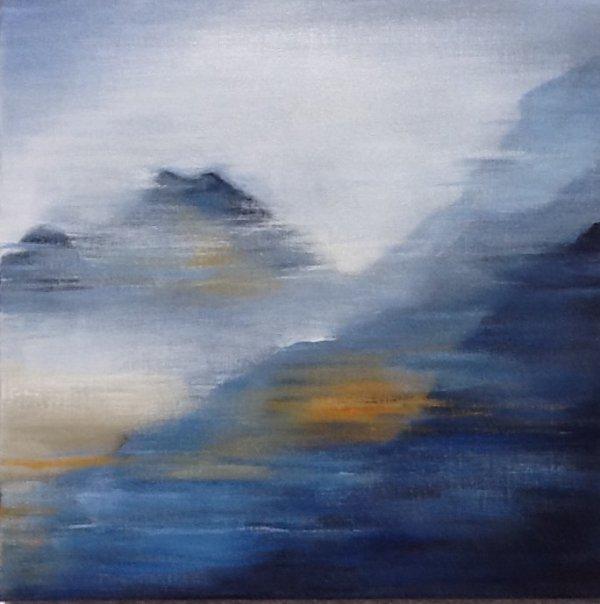 Entre CIEL et TERRE I (AC/toile 60 x 60 cm)