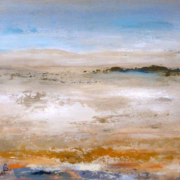 MOUSSES A PERTE DE VUE ( AC/toile 60 x 60 cm)