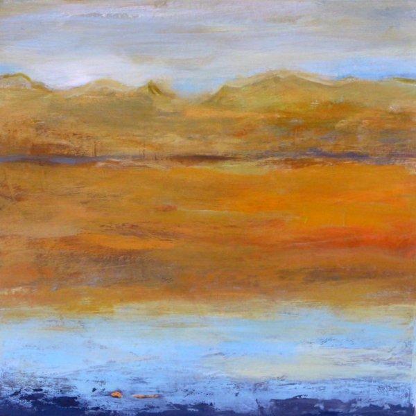 SE SOUVENIR DE LA LUMIERE  VI (AC/toile 40 x 40 cm )