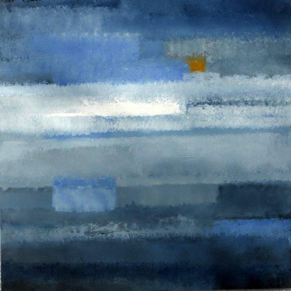 PAYSAGE DE REVE ou REVE de PAYSAGE IV ( AC/toile 80 x 80 cm)